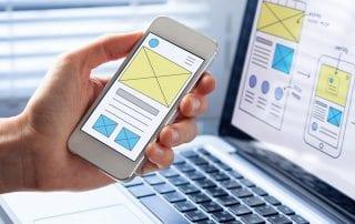 Mobile responsive website development, wireframe design preview - Mississauga Website Design Agency