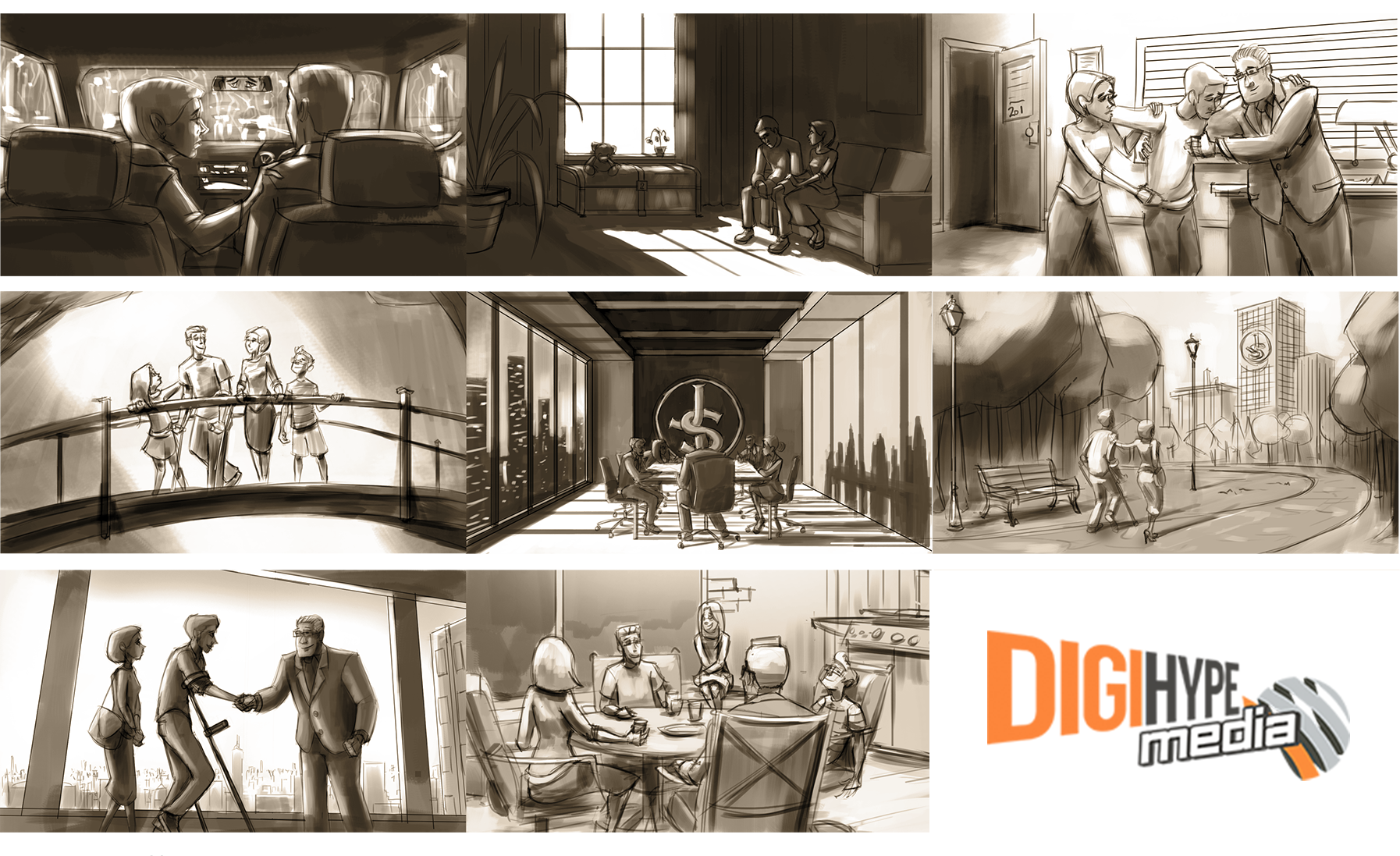 TV Commercial video storyboard for Law Firm