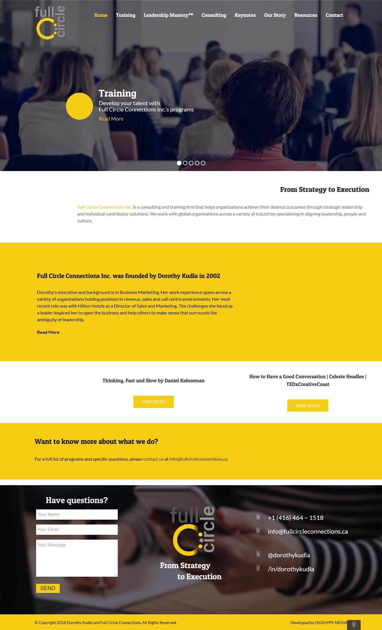 Professional coaching & Keynote speaker in Toronto (web design Mockup)