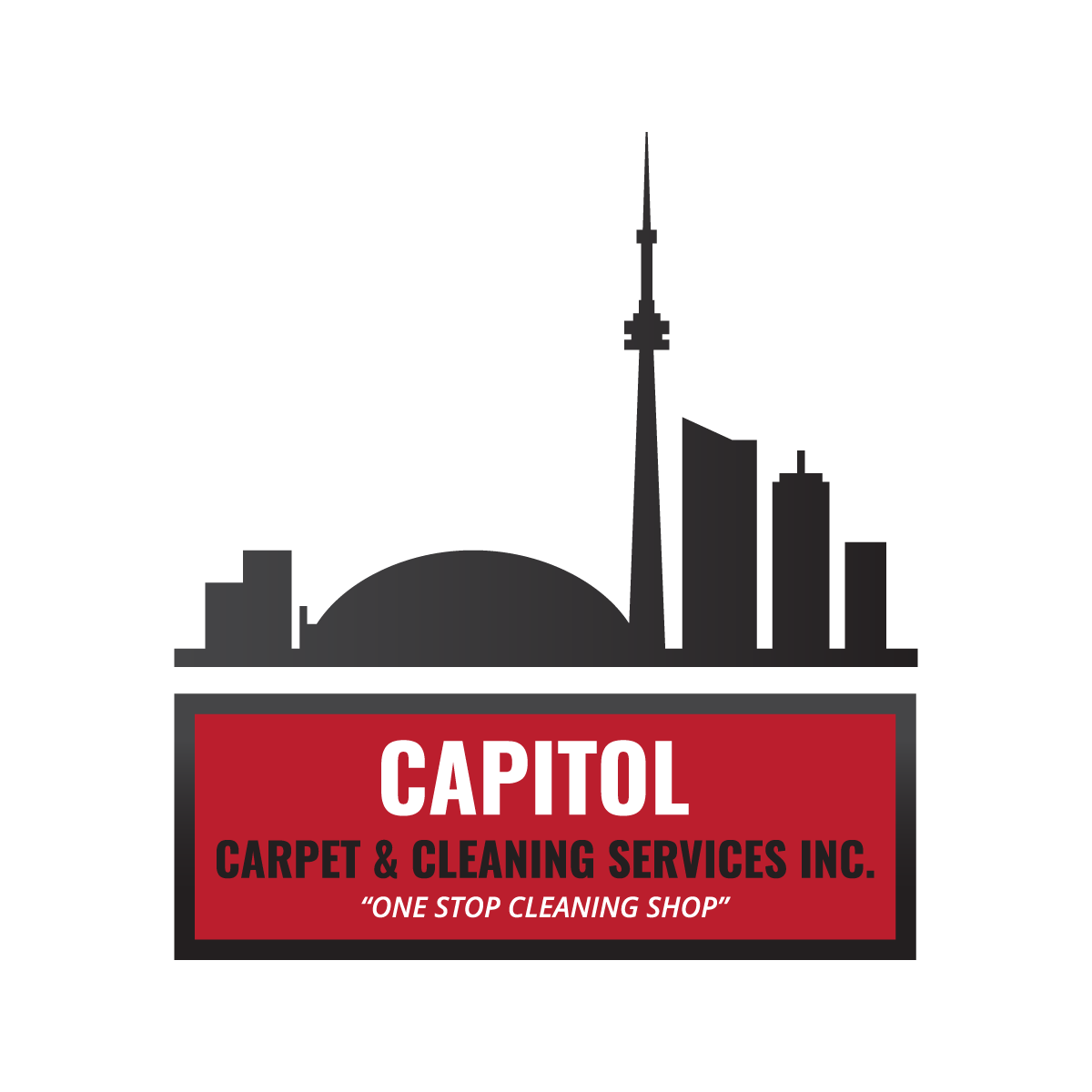 commericial, residnetial and industrial cleaning greater toronto area (logo design mockup)