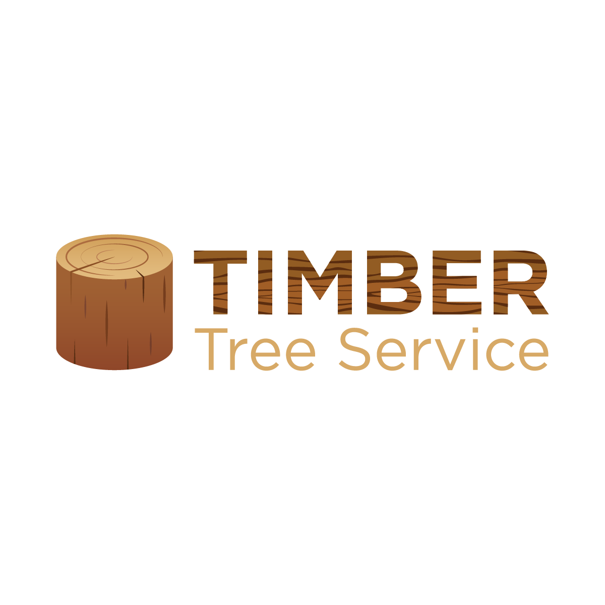 Tree cutting, arborist & bush cutting logo concept
